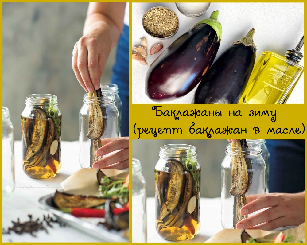 Баклажаны на зиму - рецепт консервации баклажан в масле