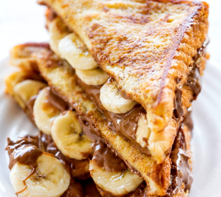 Банановый сэндвич с нутеллой - рецепт