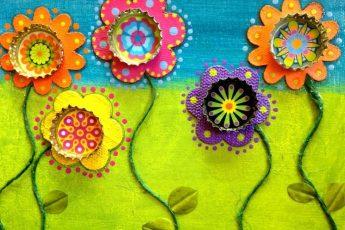 Коллаж для ребенка - цветы