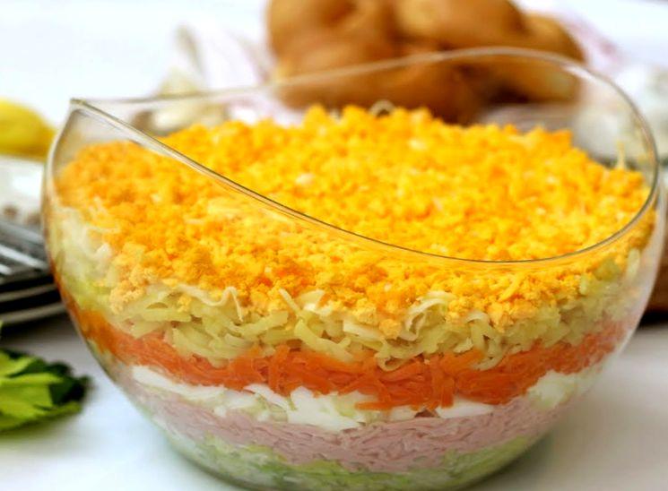 Домашний рецепт салата Мимоза