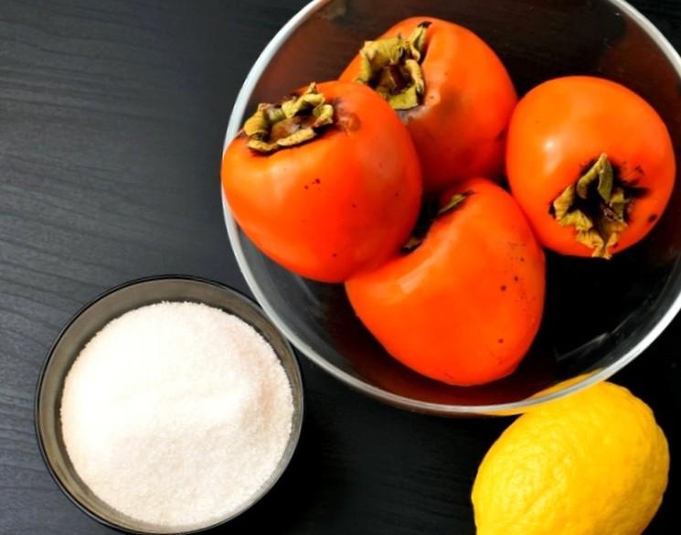 Ингредиенты для приготовления джема из хурмы
