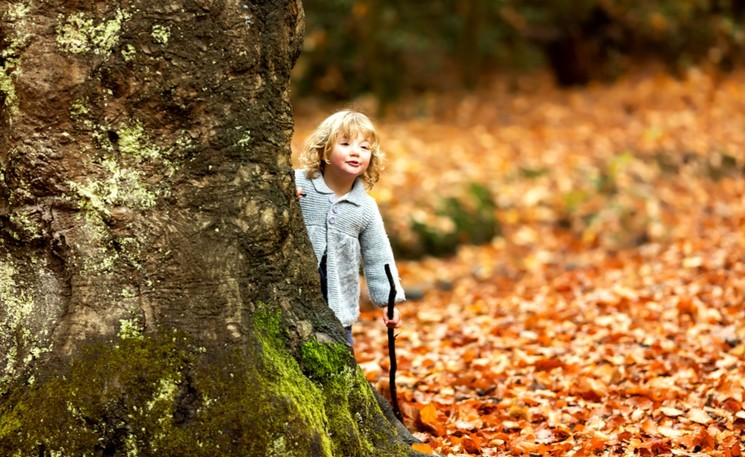 Фотосессия с ребёнком на природе - осень