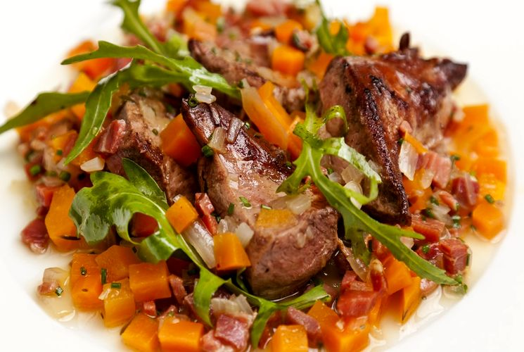 Готовим салат из говяжьего сердца