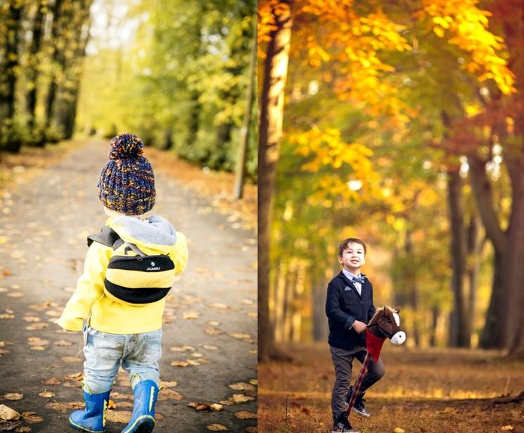 Идеи для осенних фото - мальчики