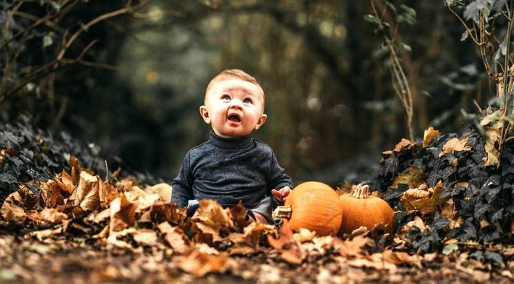 Идеи осенних фото - дети на природе