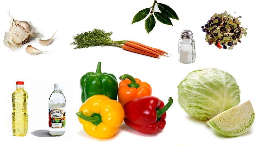 Ингредиенты для фаршированных перцев в маринаде