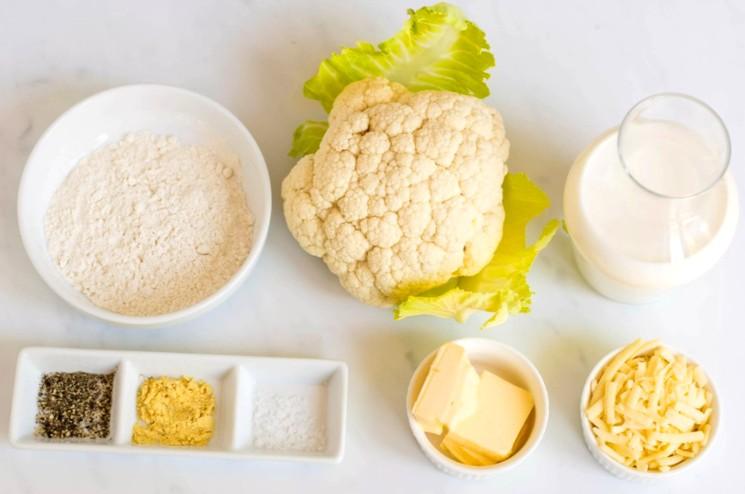 Ингредиенты для гарнира из цветной капусты запеченной в духовке