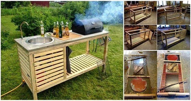 Стол для гриля и шашлыка