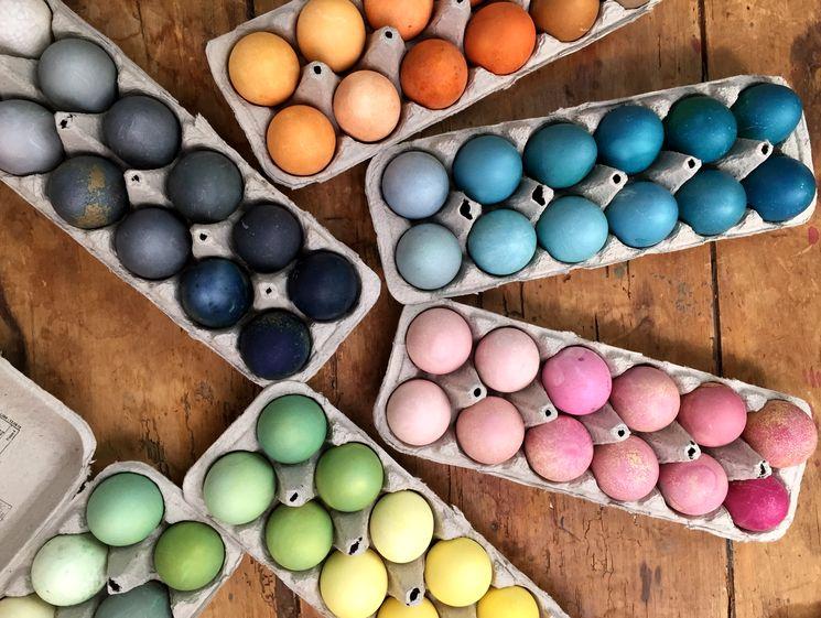 Крашенные пасхальные яйца