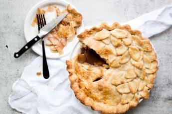 """Американский яблочный пирог - """"Apple pie"""" с карамелью"""