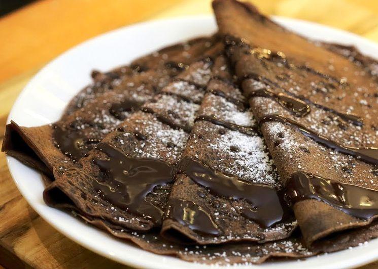 Простой рецепт шоколадных блинчиков