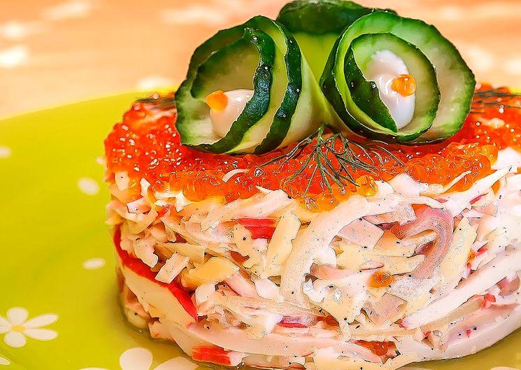 Готовим вкусный салат с кальмарами