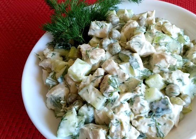 Готовим вкусный салат с огурцами