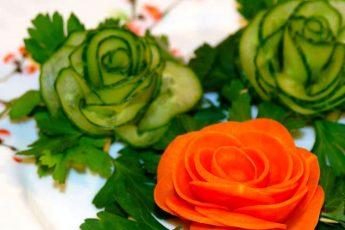 Как украсить салат или нарезку