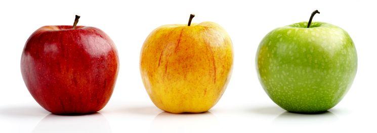 Три цвета яблок