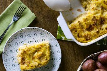 Картофельный пирог с ветчиной и сыром - вкусный и простой рецепт с фото