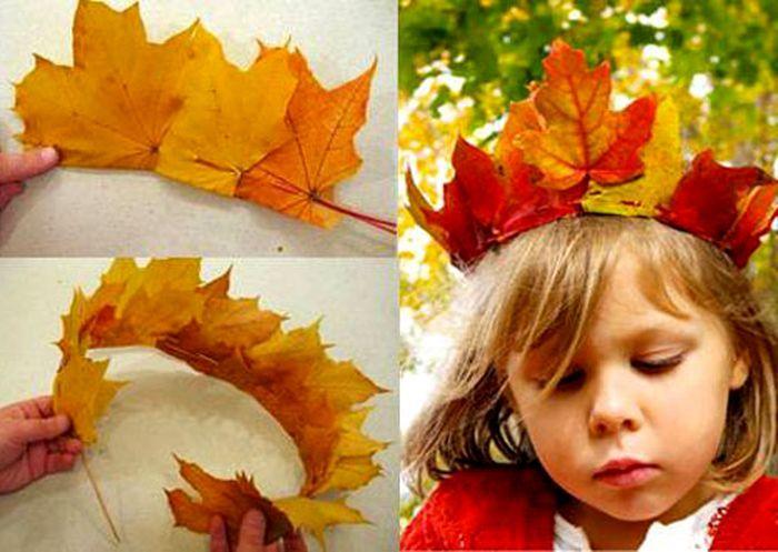 Корона и венок из листьев
