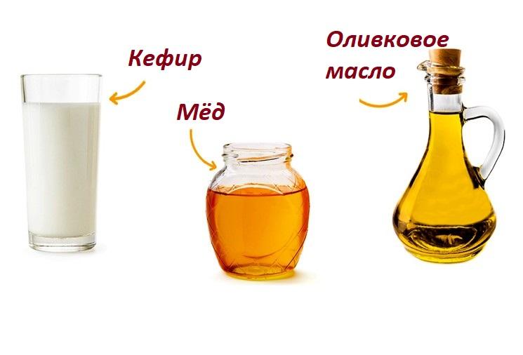 Питательная маска для волос - с мёдом и кефиром