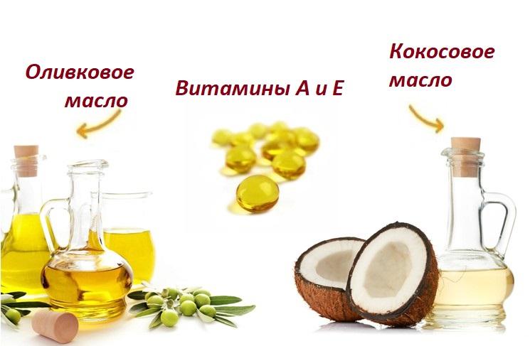 Восстанавливающая маска для волос с витаминами А и Е