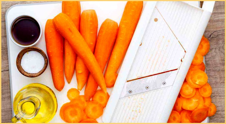 Ингредиенты для морковных чипсов со специями