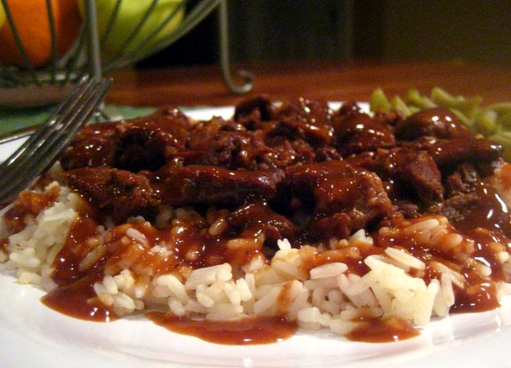 Мясная подлива к рису