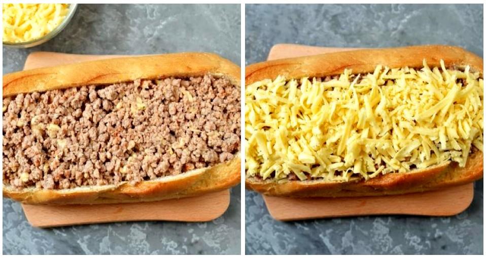 Мясной пирог с фаршем в батоне - шаг 5