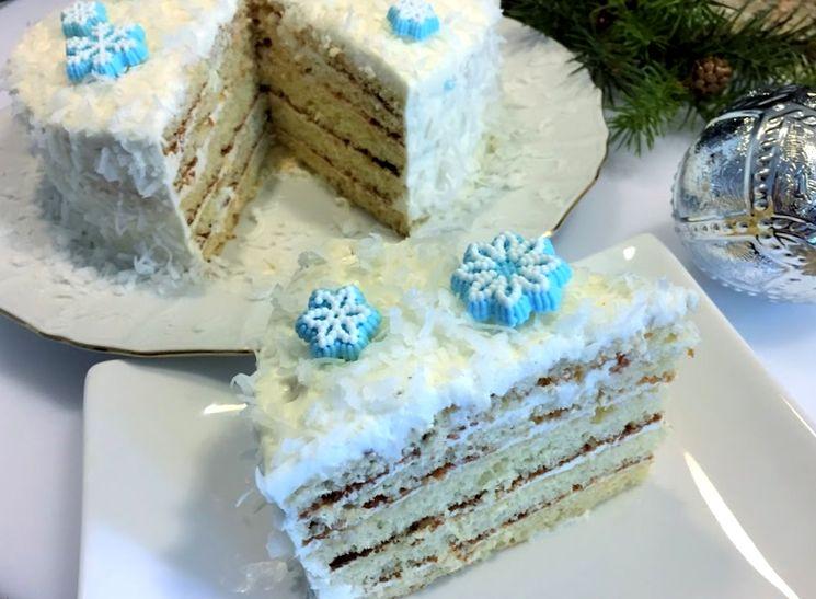 Новогодний торт Молочная Девочка