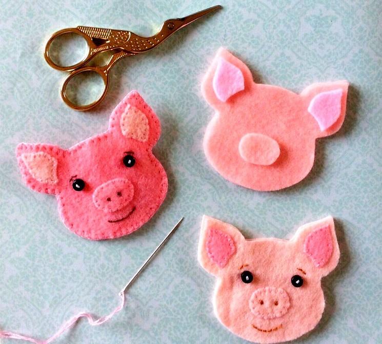 Новогодние поделки в год свиньи своими руками
