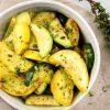 Рецепт жареных кабачков с чесноком и специями без муки
