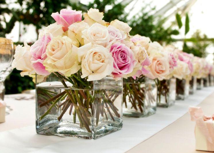 Оформление свадебных столов цветами