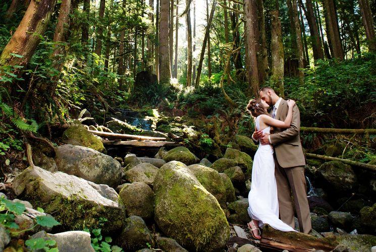 Сказочная свадьба в лесу