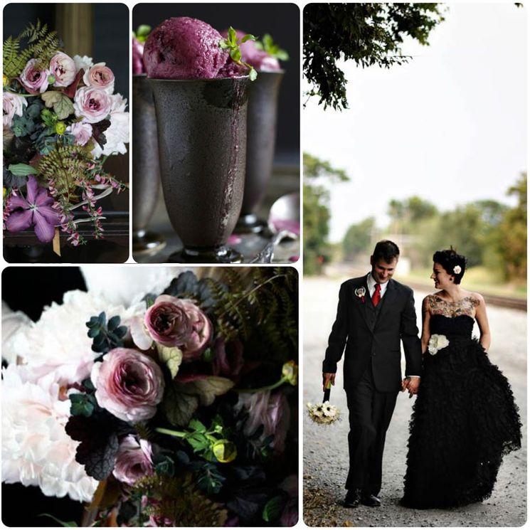 Оригинальная свадьба в готическом стиле