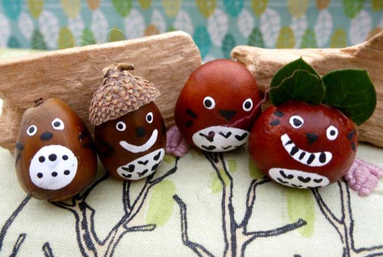 Идеи для детского творчества из желудей своими руками