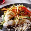 Отварная рыба с рисом