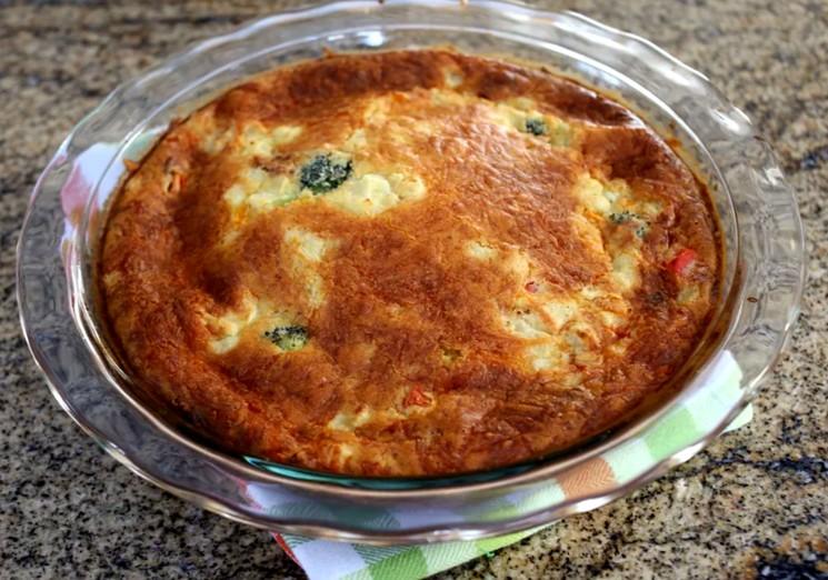 Овощной пирог с цветной капустой - рецепт