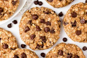 Овсяное печенье с шоколадом и бананом - простой пошаговый рецепт
