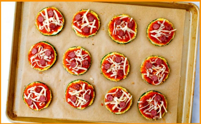 Пицца пепперони на цукини шаг 3
