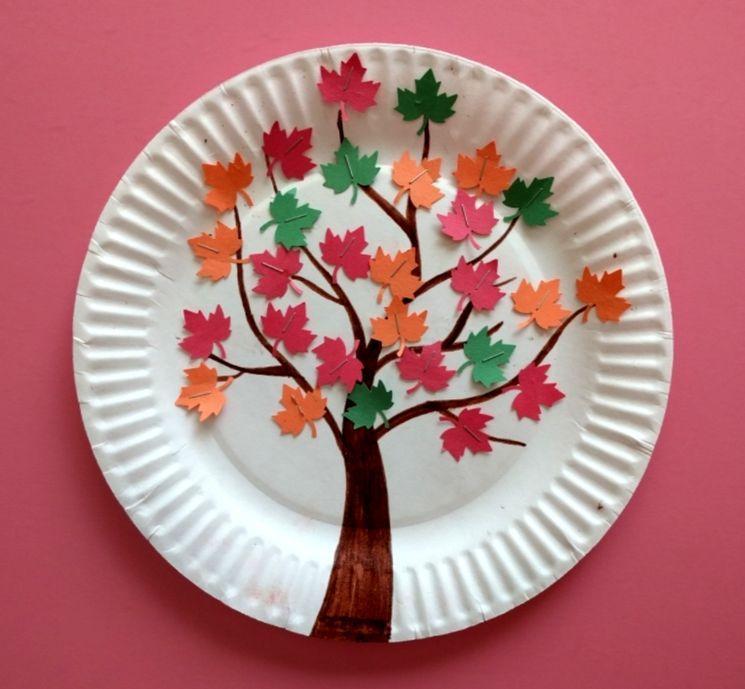 Осеннее дерево из бумажной тарелки