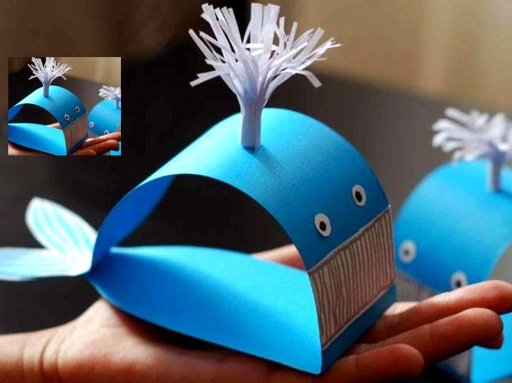 Как сделать кита из бумаги