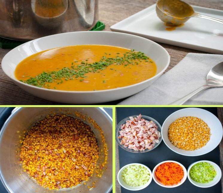 Пошаговый рецепт приготовления горохового супа