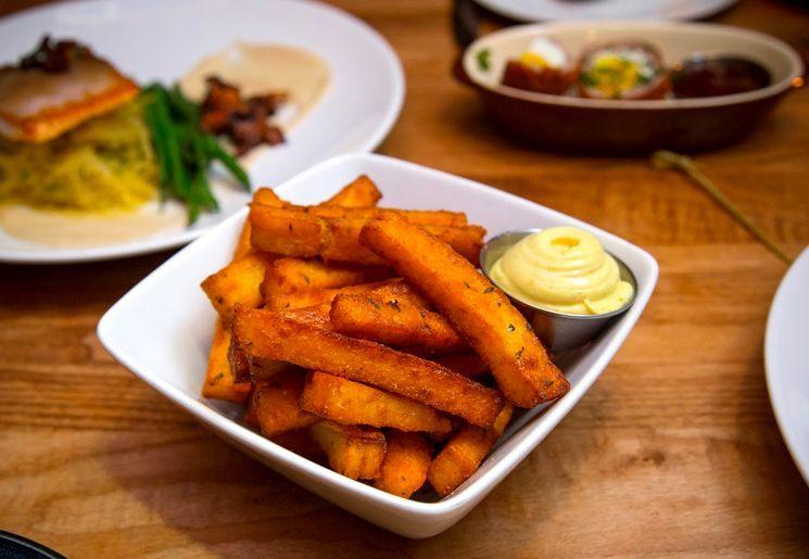 Рецепт картофеля фри с яичным белком