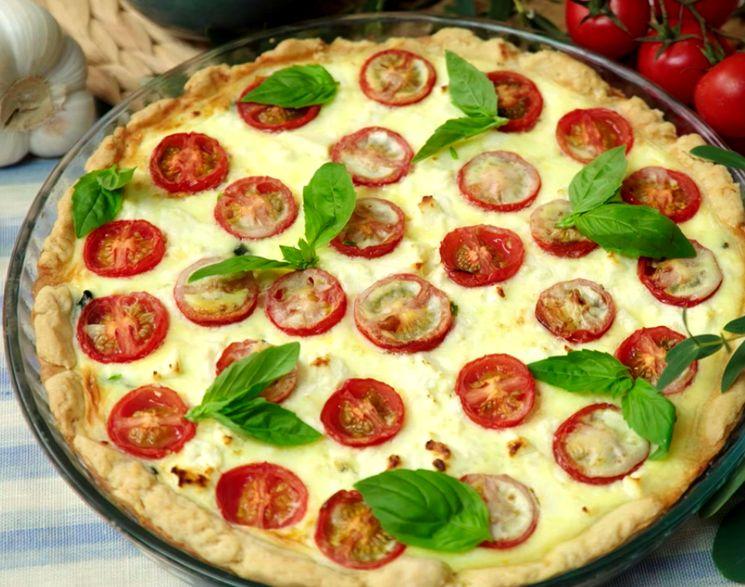 Пирог киш с томатами и шпинатом