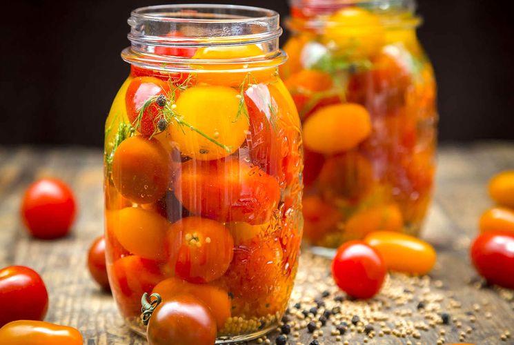 Рецепт консервирования томатов с горчицей