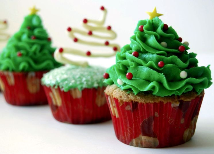 Рецепт новогодних капкейков