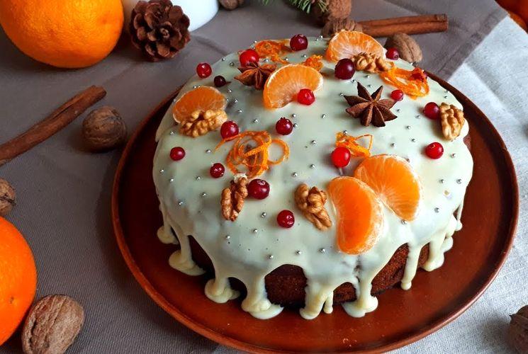 Готовим постный апельсиновый Рождественский кекс