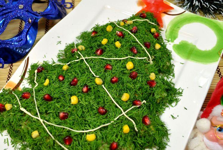 Рецепт праздничного салата Ёлочка