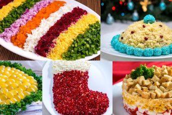 Рецепты новогодних салатов