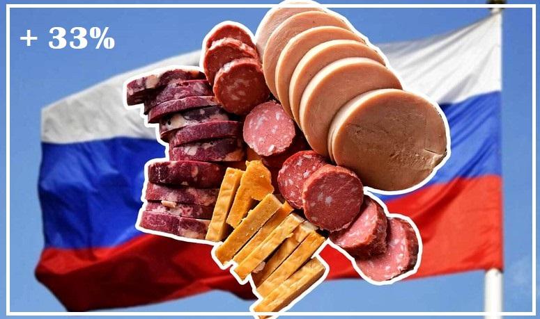 Россия на 33% увеличила экспорт колбасных изделий