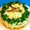 Шпротный салат на Новый год - простой рецепт