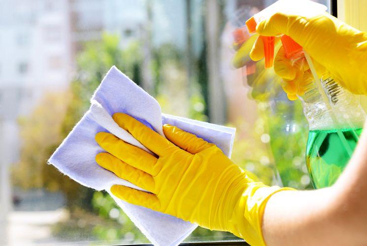 Средство для мытья стекол с уксусом